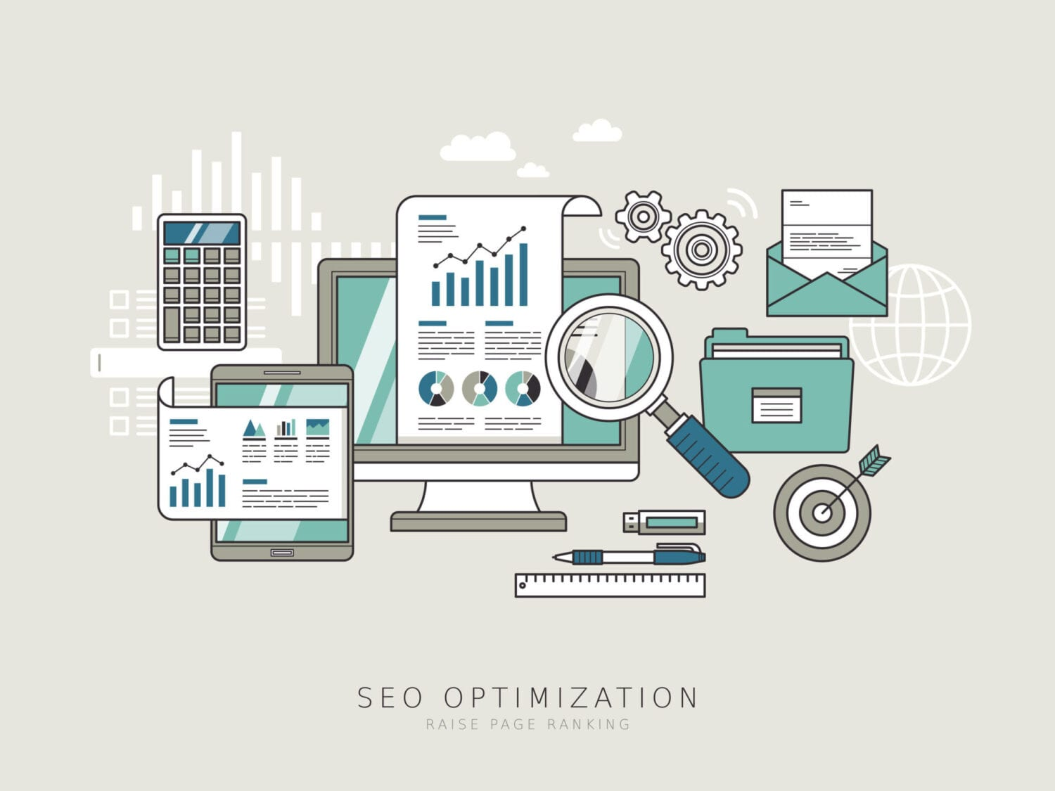 SEO optimization concept